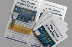 Progressive Dental Print Design -  Cary Family Dental Implant Seminar