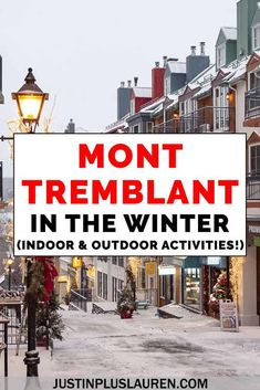 Mont Tremblant is one of the best winter getaways, whether you love skiing or apres ski. Mont Tremblant skiing and snowboarding is some of the best in Canada and North America. Here's how to have a fun weekend in Mont Tremblant during the winter. Ottawa, Ontario, Vancouver, Toronto, Canadian Travel, Canadian Food, Canadian Rockies, Skiing, Snowboarding