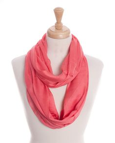 Peach Colored Infinity Scarf