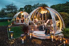 Five Fantastic Vacation Ideas For Igloo Outdoor Railing Design, Roof Design, Restaurant Design Concepts, Garden Igloo, Back Garden Landscaping, Roof Dome, Sedum Roof, Houses In Ireland, Decoration Restaurant