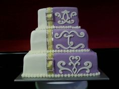 Non-traditional wedding cake by elinor
