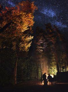 Stars in Jasper National Park, Alberta, Canada