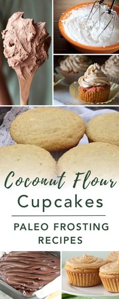 A simple Paleo Coconut Flour Cupcakes recipe with only 10 minutes of prep time required. Plus, ideas for healthy Paleo Frosting Recipes. Paleo Dessert, Low Carb Desserts, Gluten Free Desserts, Healthy Desserts, Dessert Recipes, Diabetic Deserts, Diabetic Snacks, Dessert Ideas, Coconut Flour Cupcake Recipe