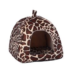 Topbeu Pet Cat House Foldable Soft Leopard Dog Bed Strawberry Cave Dog House Cute Kennel Nest Dog Fleece Cat Bed -- Visit the image link more details. (This is an affiliate link and I receive a commission for the sales) #MyDog