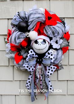 Nightmare Before Christmas Wreath for the by TisTheSeasonDesign