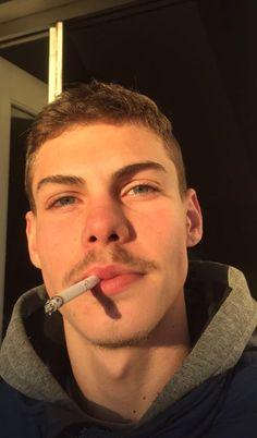 Hot Guys Smoking, Man Smoking, Cute Teenage Boys, Bad Boys, Mustache Styles, Scruffy Men, Baby Swag, Grunge Outfits, Future Husband