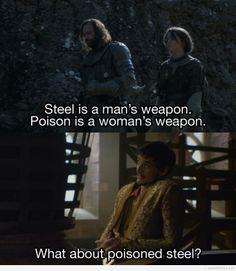 Oh Oberyn, you clever bastard. #gameofthrones #oberynmartell