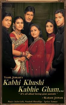 Kabhi Khushi Kabhie Gham... - drama about the traditional Raichand family,  the foster son, Rahul, is disowned after he falls in love with a middle-class girl. They marry & move to London with her and her younger sister. Years later, Rahul's younger brother Rohan arrives in London, determined to reunite his family.