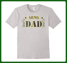 2d3b1b39 Mens ARMY DAD WHITE FEMALE SOLDIER MILITARY T-SHIRT Small Silver -  Relatives and family shirts (*Amazon Partner-Link)