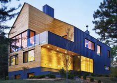 Casa no Canadá tem arquitetura moderna e aconchegante