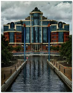 The Victoria building, Salford Quays, Manchester, England by lovestruck