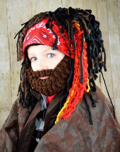 Pirate Wig Boy Halloween Costumes Pirate Headpeice Photo Prop | Etsy Pirate Halloween Costumes, Pirate Hats, Dreads, Photo Props, Little Boys, Snug, Pirates, My Design, Wigs