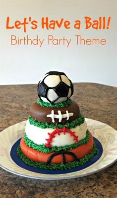 Invitations, decorations, cupcakes, and other ideas for a ball themed birthday party. Sports Theme Birthday, Ball Birthday Parties, Birthday Fun, Birthday Basket, Birthday Ideas, Cake Birthday, Birthday Themes For Boys, Birthday Recipes, Husband Birthday
