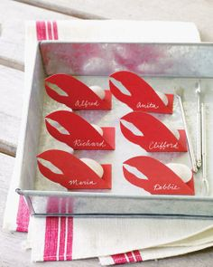 Lobster Place Cards How-To