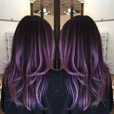 Instead of just refreshing her ombré. We decided to also put violet on it…
