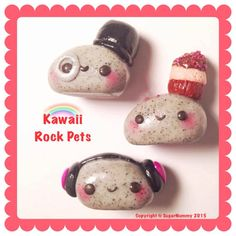 Hey, I found this really awesome Etsy listing at https://www.etsy.com/listing/228989814/kawaii-rock-pets-pet-rock-polymer-clay