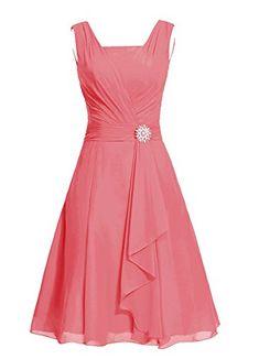 Dresstells® Women's Short Square Chiffon Bridesmaid Dress Party Dress with Sash Coral Size 2 Dresstells http://www.amazon.com/dp/B010SQ43IK/ref=cm_sw_r_pi_dp_EHWGwb0AQRMTP