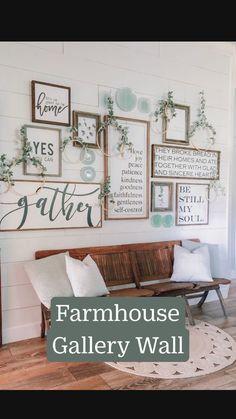 Country Farmhouse Decor, Farmhouse Front, Farmhouse Interior, Farmhouse Dining Rooms, Farmhouse Office, Country Wall Decor, Farmhouse Frames, Vintage Farmhouse Decor, Farmhouse Wall Art