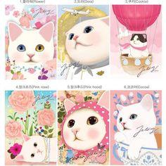 Super cute cats postcards!