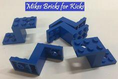 15 NEW LEGO Bracket 5 x 2 x 1 1//3 2 Holes BRICKS Light Bluish Gray