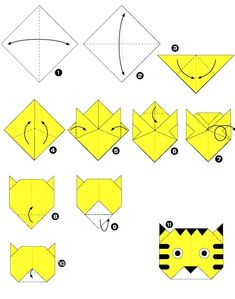 origami tijger – Origami Community : Explore the best and the most trending origami Ideas and easy origami Tutorial Origami Design, Diy Origami, Origami Simple, Origami Ball, Paper Crafts Origami, Paper Crafting, Origami Boxes, Origami Ideas, Origami Turtle