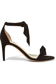 ALEXANDRE BIRMAN Patty Bow-Embellished Suede Sandals. #alexandrebirman #shoes #sandals