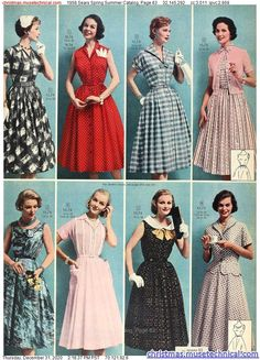 Vintage Dress Patterns, Vintage Dresses, Vintage Outfits, 1950s Dresses, 1950s Inspired Fashion, 1950s Fashion, Vintage Fashion, 1950s Outfits, New Outfits