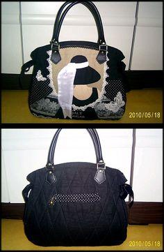 Woman applique on bag