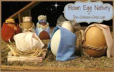The Chicken Chick®: DIY Blown Egg Nativity Scene: The Reason for the Season Christmas Jesus, Christmas Nativity, Christmas Art, Christmas Stuff, Nativity Crafts, Christmas Holidays, Xmas, Christmas Ornaments, Christmas Crib Ideas