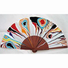 """Abanico de la serie """"Celos"""". 27x50 cm. Hand Held Fan, Hand Fan, Stained Glass Mirror, Pretty Hands, Projects To Try, Fancy, Cool Stuff, Creative, Handmade"""