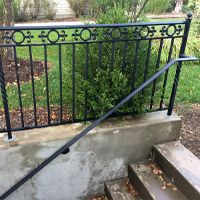 Porch and Patio Railings Exterior Stair Railing, Deck Railing Design, Patio Railing, Paved Patio, Porch, Iron, Decor, Balcony, Decoration