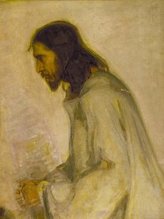 "Artist: Henry Ossawa Tanner  Title: The Savior Medium: oil on canvas mounted to plywood Dimension: 29 1/8 x 21 3/4 in. (73.9 x 55.3 cm)Location:Smithsonian American Art Museum   The Life of Jesus the Christ was the focal point of Tanner's career. This painting illustrates Jesus praying before He is taken in the night and held captive before being sentenced to crucifixion. It was vital for Tanner to depict ""The Savior"" as a real person rather than an idealized character."