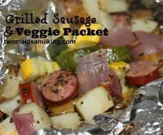 Grilled Sausage and Veggie Packets
