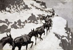 Frederic Remington - The Mule Pack (c. 1901)