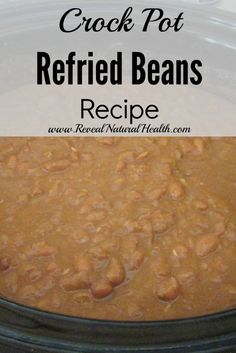 Crock pot refried beans are so easy there is no reason to buy cans anymore. This method can be also used for preparing dry beans for later use in recipes.