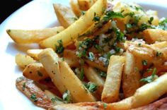 Gordon Biersch Garlic Fries.. had these at a rugby game.. came with heaps of garlic on top.. oh my, dee-lish!