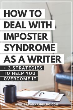How to Deal With Imposter Syndrome as a Writer | Savannah Gilbo - Do you struggle with imposter syndrome? Does imposter syndrome prevent you from finishing your book? If so, check out this blog post where I walk you through three strategies for overcoming imposter syndrome so that you can finish your draft and publish your story. Other writing tips included, too! #amwriting #writingtips #writingcommunity Book Writing Tips, Writing Resources, Writing Prompts, Writing Practice, Writing Help, Writing Outline, Writing Characters, Fiction Writing, Writing Inspiration