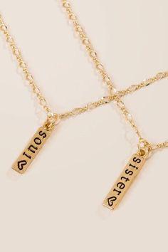 Soul Sister Friendship Necklace Set