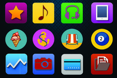 design professional APP and Flat icon by heinseberg