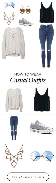 """Casual"" by isabelle108 on Polyvore featuring MANGO, Chicnova Fashion and Converse"