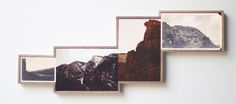 Artist J. Frede creates his Fiction Landscapes from photographs found at the flea market.