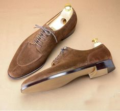 The Best Men's Shoes And Footwear : Split toe in brown kudu suede. Lace Up Shoes, Men's Shoes, Shoe Boots, Dress Shoes, Dress Clothes, Shoes Men, Dress Lace, Best Shoes For Men, Formal Shoes For Men