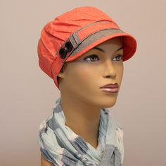 Swirl Cut Newsboy Hat | This sweet little hat is extremely light-weight and easy to wear. Great coverage over the ears and neckline and a soft interior make this a good summer hat for cancer patients and women with medical hair loss.