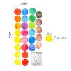 Modern Mix Colorful Dots Remove Cartoon Wall Sticker Vinyl Wall Art DIY Cartoon Home Decor For Children Kid Living Room Bedroom Kids Living Rooms, Living Room Bedroom, Sticker Vinyl, Vinyl Wall Art, Baby Wall Decor, Cartoon Wall, Dots, Colorful, Children