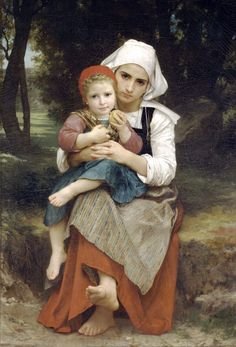 Breton Brother and Sister by William-Adolphe Bouguereau