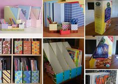 This is how I store my 12x12 papers - I re-use the shipping boxes they are mailed in...~Kay-Tee    This pic is one I found on the FB page of DondeReciclo.org