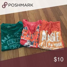 Lot of 3 American eagle shirts Barely worn. All size large. American Eagle Outfitters Tops Tees - Short Sleeve