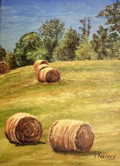 Oil Painting an Original One of a Kind Landscape by PetrocyStudios, $158.00
