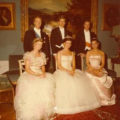 Three couples Luxembourg of 1981 and 1982: the Princess Marie-Astrid and Carl-Christian, Princess Margaretha and Nicolas and finally, the Grand Duke heir Henri and Maria-Teresa
