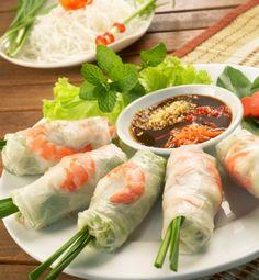 Vietnamese loempia's rijstpapier Goi Cuon